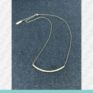 BaubleBar - Silver Bow Necklace